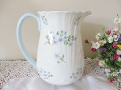 Shelley vintage 1950's tall jug called Blue by MaddyVintageHostess
