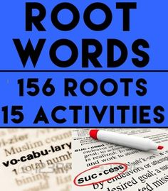 INTRODUCTORY LESSON & 15 QUIZZES: ROOTS, SUFFIXES & PREFIXES: Prepare students for SAT vocabulary with 15 activities to learn and practice 156 latin and greek roots. ANSWER KEY INCLUDED. NO PREP #greekandlatinrootactivities #rootwordactivities