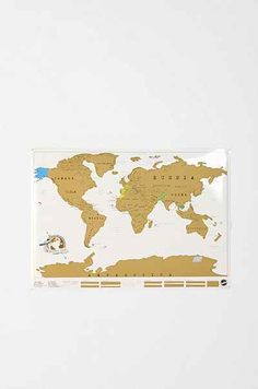 Scratch Off World Map - Urban Outfitters $34