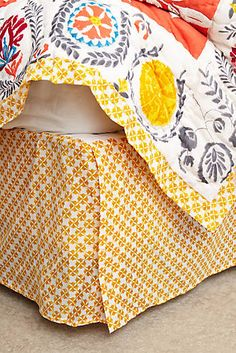 Zocalo Embroidered Bed Skirt