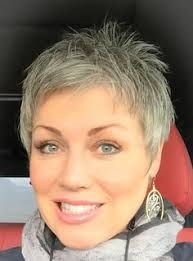 Image result for pixie hairstyle gray with foils