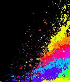 colorful apple logos. Color Paint Splashes Effects Colorful Apple Logos