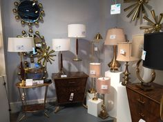 """Table lamps representing """"mixed metals"""" from Wildwood Lamps.  #WildwoodLamps #tablelamps"""