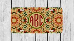 Personalized Monogrammed Vintage Floral Flowers by TopCraftCase