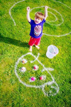 Garden games with garden paint - BUG OLYMPICS!