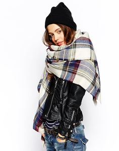 ASOS Oversized Scarf In Check