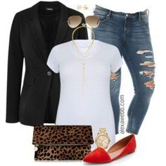 Plus Size Outfit Idea - Plus Size Skinny Jeans - Plus Size Fashion for Women - alexawebb.com #alexawebb