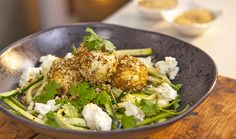 Recipe by Dani Venn Serves: 4 Prep Time: 20 minutes Cook Time: 5 minutes  Ingredients 8 free range eggs 1/3 cup olive oil 45g Table of Plenty Pistachio Dukkah 2 zucchinis 1 cup coriand...