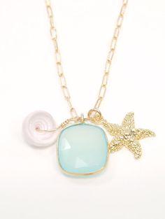 Kai necklace - nautical gold charm necklace, www.kealohajewelry.etsy.com Maui Hawaii