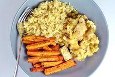 Recepty s kuracím mäsom Archives - FitRecepty Home Recipes, Cooking Recipes, No Cook Meals, Risotto, Good Food, Bread, Tofu, Chicken, Vegetables