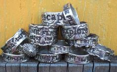 Mans Ring, Mens Ring, Custom Silver Rings, Mens Personalized Jewelry, Handstamped Quote, Word, Name, Size 6 7 8 9 10 11 12 13 14 15
