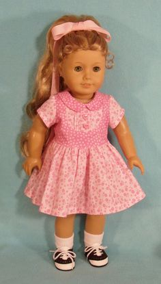 1950's Dress for 18 inch Doll by Lynniejo on Etsy