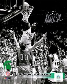 fccdcca32 Magic Johnson Signed Michigan State Spartans Slam Dunk B W 8x10 Photo