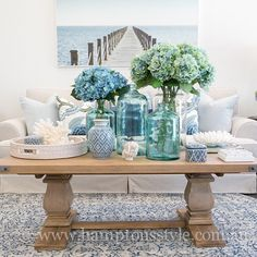 Hamptons Style has the largest range of hamptons style furniture in Australia. Hamptons Style Bedrooms, Hamptons Style Decor, Hamptons House, The Hamptons, Garden Coffee Table, Coffe Table, Fresco, Beach Chic Decor, Interior Decorating Styles