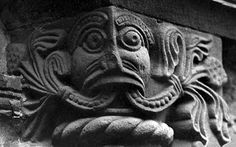 Green Man (or Beast) (c. 12th Century) in Church of Saint Mary and Saint David in Kilpeck, Herefordshire, England (photo Simon Garbutt)