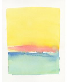 Yellow Sky & Water Forms by Malissa Ryder