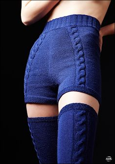 Cable Knit shorts and socks patters. I could see this looking amazing in a charcoal grey.
