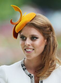 Princess Beatrice of York is seen about to present the Ribblesdale Stakes trophy during day three