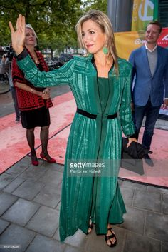 Queen Maxima of The Netherlands attends the LOEY award ceremony for the best online entrepreneur in the Cloud building on September 11, 2017 in Amsterdam, Netherlands.