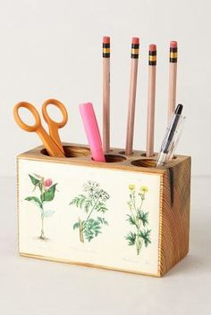 Peg & Awl Pine Desk Caddy #anthroregistry