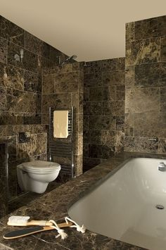 Dark Chocolate Brown Marble With Cream Veining Acid Washed To Provide A Strong Colour