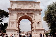 Arch of Titus, Rome Italy--Emperor Domitian ordered the construction of this triumphal arch in celebration of the victories of Titus, particularly the Siege of Jerusalem.