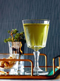 Bijou: 1½ oz. gin, ¾ oz. green Chartreuse, 1 oz. sweet vermouth, 2 dashes orange bitters (Regan's)