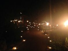 Everything lit by candles, Rhythms of the Night by Vallarta Adventures  |  Las Caletas cove, Pue