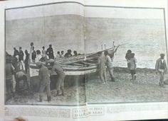 Jábega en la playa de Málaga (1927). #LaEsfera