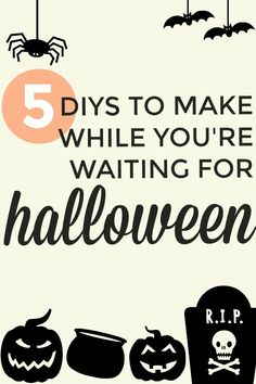 Halloween season is coming, and now is the time to start your spooky DIYs, craft projects, and homemade decorations! Get inspiration and ideas for five awesomely easy (and creepy) Halloween DIY projects. #halloween #diy #crafts #halloweendiy