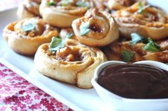 ValSoCal: Barbecue Chicken and Cheddar Pinwheels
