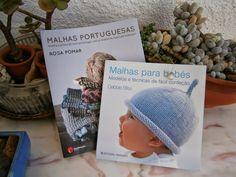 """O livro, Malhas para bebés, é o famoso livro da Debbie Bliss traduzido para português pela Rosa Pomar! Os dois livros são """"deliciosos"""""""