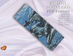 Peyote Pattern Bracelet Cuff Beading Miyuki Delica Size 11