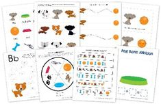 Dog preschool pack printables