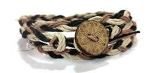 HIPPIE MULTI COLORED HEMP WRAP BRACELET