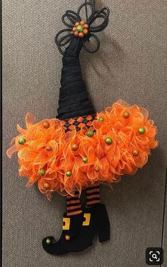 Excited to share this item from my shop: Witch hat wreath halloween wreath halloween witch hat front door wreath door wreath fall wreath witch wreath Halloween Witch Wreath, Halloween Mesh Wreaths, Halloween Ribbon, Diy Halloween Decorations, Deco Mesh Wreaths, Fall Halloween, Halloween Crafts, Halloween Witches, Halloween Decorating Ideas