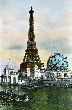 Paris Exposition: Eiffel Tower and Celestial Globe, Paris, France, 1900 by Brooklyn Museum, via Flickr