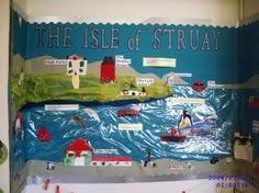 katie morag display - link to thematic learning, english Class Displays, School Displays, Classroom Displays, Primary Teaching, Primary School, Class Charter, Katie Morag, Continents And Countries, Wild Waters