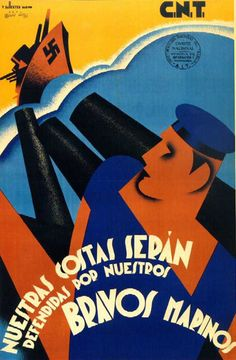 By Vicente Marco Ballester, Republican poster Spanish Civil War. (Spain)