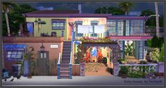 Boho house - The Sims 4 Catalog My Sims, Sims Cc, The Sims 4 Lots, Sims 4 Blog, Sims 4 House Design, Sims Free Play, Sims Building, Casas The Sims 4, Sims 4 Build