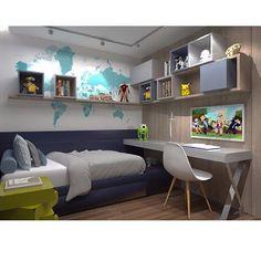 """252 curtidas, 7 comentários - 💭💭💭💭💭💭💭💭💭💭💭 (@imaginevoceaqui) no Instagram: """"Usos definidos agregam beleza e funcioalidade a quarto infantil. ⠀ Autoria: Graziella Nicolai…"""""""