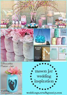 Mason Jar Wedding Inspiration via weddings.craftgossip.com