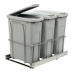 Home Depot Recycling Bins How To Build A Pull Out Trash And Recycling Bin For Half The Cost Of