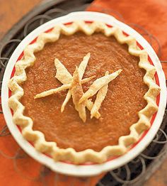 Pumpkin Chess Pie   recipe from Midwest Living