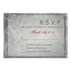Subtle Grey Elegance Rsvp Card