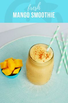Fresh Mango Smoothie from Frozen Mangoes - Super Healthy Kids | Healthy Ideas and Recipes for Kids  When it comes to the perfect texture of smoothies, frozen fruit is the way to go. Especially frozen mangoes! And especially with kids.  Smoothies made from frozen fruit have:Better texture. It feels more like a slushy or milkshake, rather than watered down.Better taste.  Fruit is able to be frozen at the peak of ripeness, rather than buying fruit that isn't quite ripe yet.