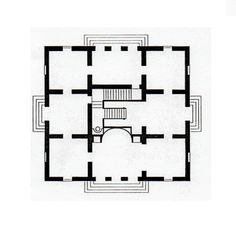 Schloss Charlottenburg, Neue Pavillon by Schinkel, ground floor plan.