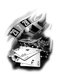 Casino tattoo flash! Visit www.lukatattoo.ro for more!