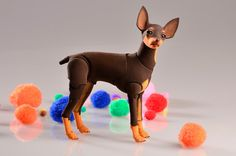BJD dog Russian Toy Terrier. Scale 1/4 7 cm at the by ElleoDolls, $340.00