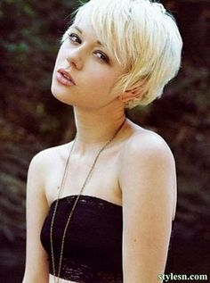 Hairstyles of the golden hair for summer 2014
